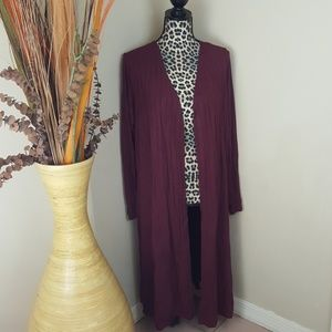 NWT Rue21 Rib Knit Open Front Duster